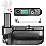 Neewer Pro Battery Grip for Sony A6300 Camera with 2.4G Wireless Remote Control,Work with 1 or 2 NP-FW50 Battery, Includes 3-in-1 Cleaning Kit