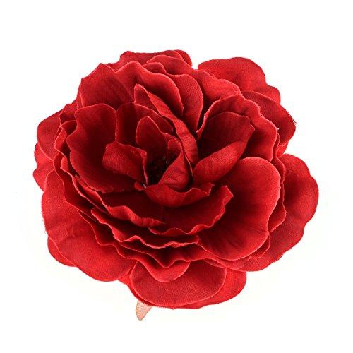 Love Sweety Women Girls Flower Hair Clips hairpins Flower Brooch (Red)
