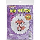 Janlynn Kid Stitch 11 Count Fox Mini Counted Cross Stitch Kit, 3-Inch