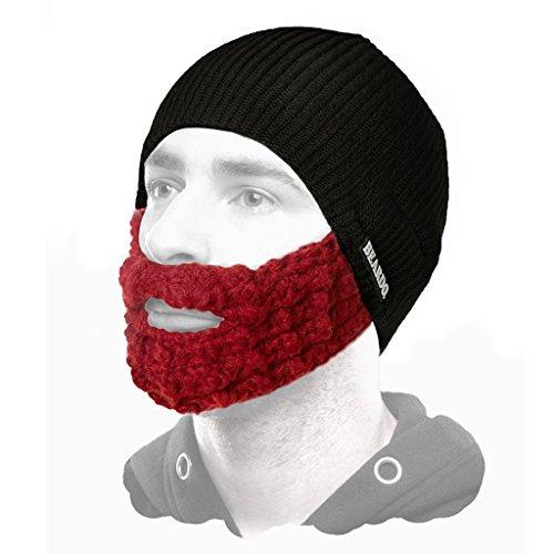 Beardo Attached Beard Hat, Black Ginger -