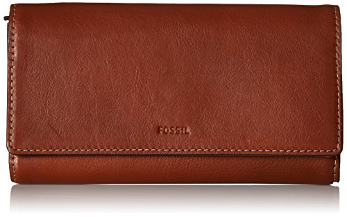Fossil Emma RFID Flap Clutch, One Size - Brown