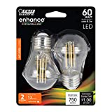 Feit Electric BPA1560/827/LED/2 60W Equivalent Clear A15 Dimmable LED Light Bulb (2 Pack)