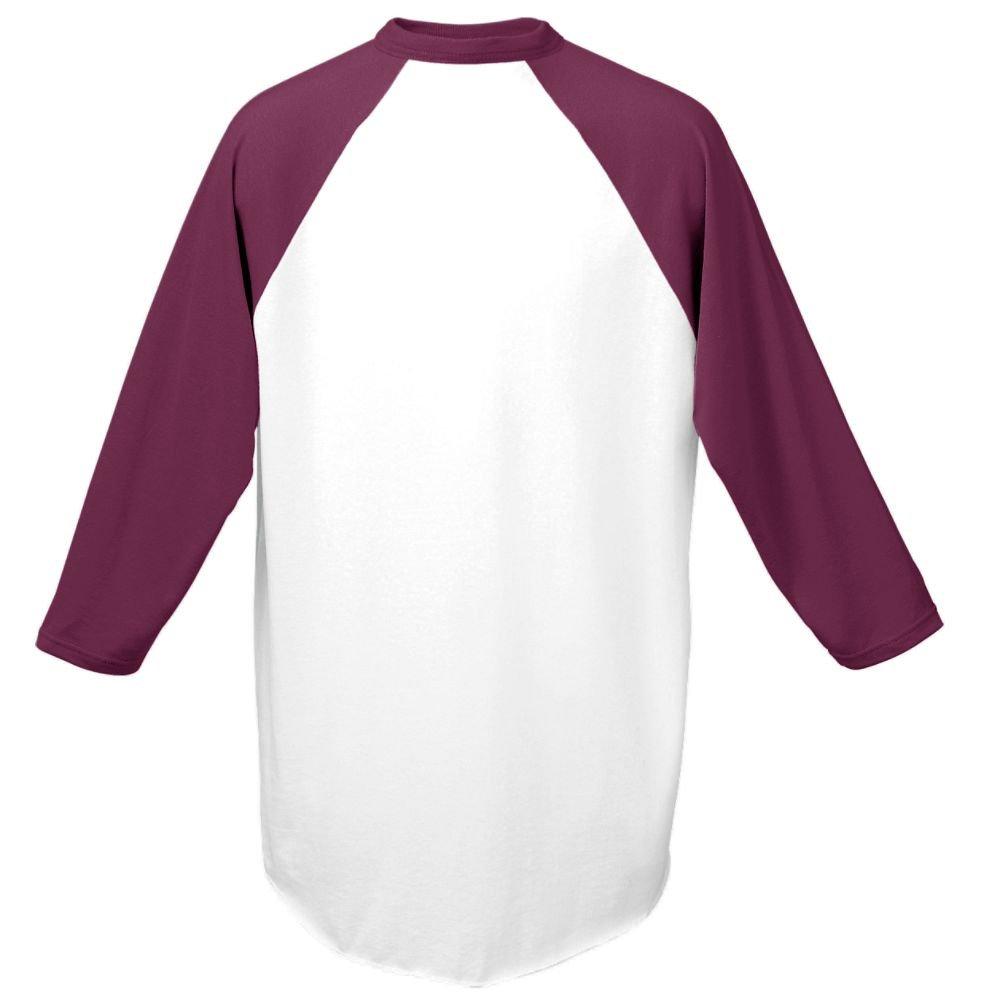 Augusta Sportswear Men's Baseball Jersey, White/Maroon, 3X-Large by Augusta Sportswear