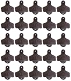 50 Cast Iron Open Here Bottle Openers Wall Mounted Rustic Brown Color Mounting Screws Not Included