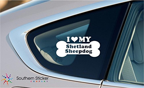 heepdog Dog Bone Puppy Symbol White Vinyl Car Sticker Symbol Silhouette Keypad Track Pad Decal Laptop Skin Ipad Macbook Window Truck Motorcycle ()