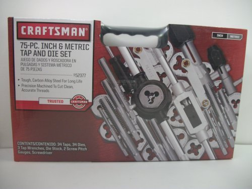 Craftsman 75 pc Inch & Metric tap and die Set by Craftsman