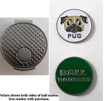 Marcador de pelota de Golf pelota Barkers Pug y Clip del ...