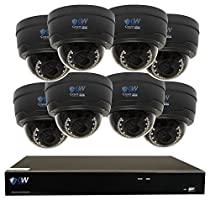 GW Security 8 Channel H.265 NVR 8 x 5MP 2.8-12mm Lens 40 LED IR Security Camera 4TB HD (No Ethernet Network Cable)