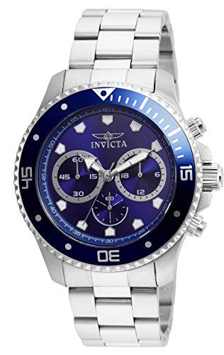 Men's  Pro Diver Analog Display Quartz Silver Watch - Invicta 21788