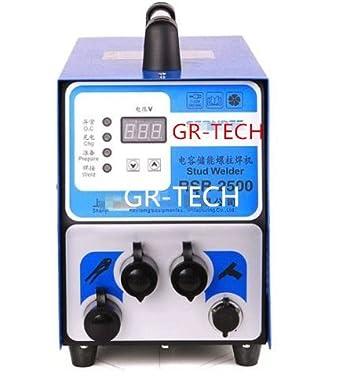 gr-tech Instrumento® Condensador descarga Tuerca Perno placa aislante para placa de pernos de soldadura soldador 220 V: Amazon.es: Industria, ...