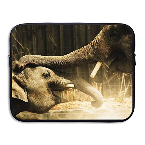 Ministoeb Elephants Love Touch Laptop Storage Bag - Portable Waterproof Laptop Case Briefcase Sleeve Bags Cover by Ministoeb (Image #4)