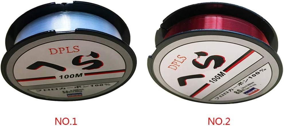 Guangcailun 100M de Nylon l/ínea de la Mosca Hilo de monofilamento 100m l/ínea de Nylon Rosca Exterior Aceessories Pesca Atl/éticos Casual