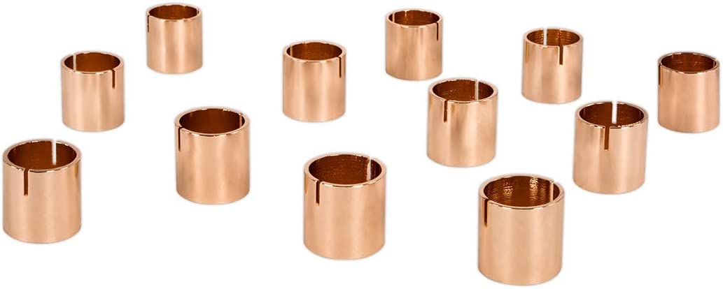 Koyal Wholesale Modern Metal Geometric Cylinder Wedding Place Card Holders, Set of 12 Rose Gold Table Number Holders for Wedding, Bridal Shower, Rehearsal Dinner, Thanksgiving, Christmas, Home Decor