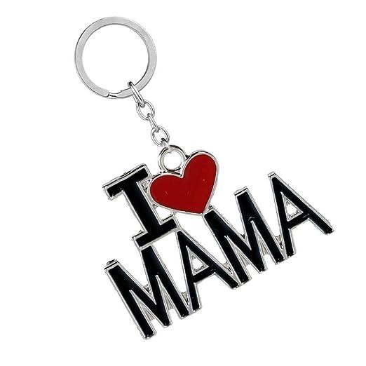 Deinbe Llavero Colgante Papa Mama Corazón Palabra Llavero ...