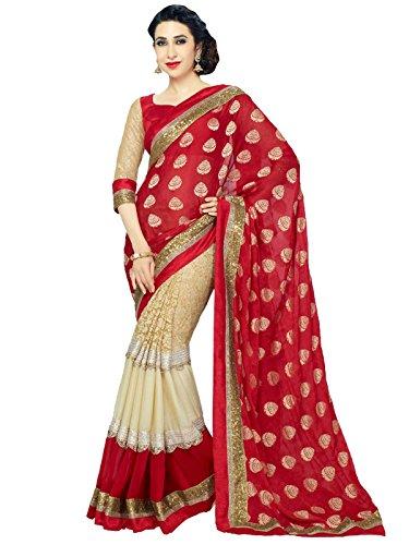 sakala-export-women-indian-saree-red-color-best-price-free-blouse-t2499