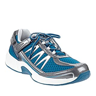 Orthofeet Proven Plantar Fasciitis and Foot Pain Relief. Arthritis Diabetic Shoes. Extended Widths. Best Orthopedic Men's Sneakers Sprint Blue