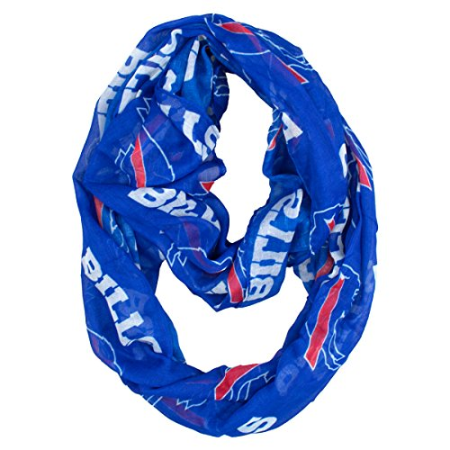 Nfl Buffalo Bills Sheer Infinity Scarf  One Size  Blue