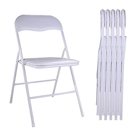 Superb Amazon Com Jaxpety New 5Pcs Commercial White Plastic Evergreenethics Interior Chair Design Evergreenethicsorg