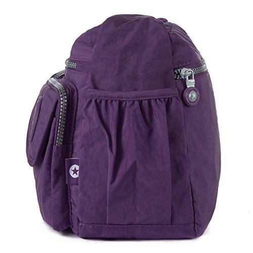 Vivid Shoulder pocket Crossbody green Bag Multi Bag 938 938 Army Travel violet Nylon CPXqTX
