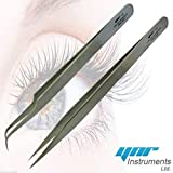 YNR Swiss Quality Tweezers Straight Curved For...