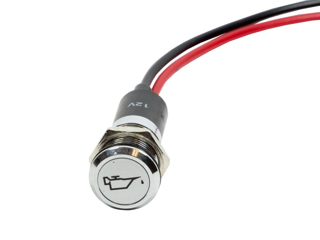 Direction Indicators Alpinetech PL12MS 12mm 1//2 12V LED Metal Signal Indicator Pilot Dash Light