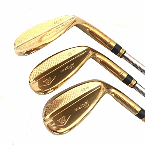 Japan Wazaki 14K Gold M PRO Forged Soft Iron USGA R A rules of Golf Club Wedge Set(pack of three) by wazaki (Image #2)