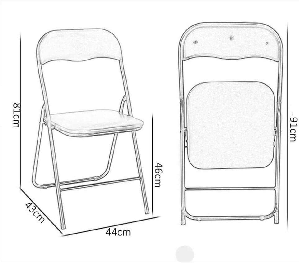 Aoyo Folding Chairs Folding Padded Office Chairs Folding Chair Chair Easy To Store (Color: Headphone 81 * 43 * 46cm), (Color : Light Green 79 * 46 * 45cm) Headphone Face 81*43*46cm