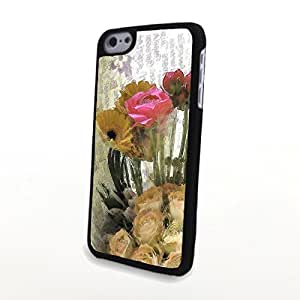 linJUN FENGGeneric PC Phone Cases Charming Liveliy Beautiful Flowers Matte Pattern fit for Colorful Flowery iphone 6 plus 5.5 inch Case
