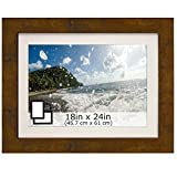 """Inked and Screened 18 x 24"""" Brown Matte Picture or Poster Frame"""