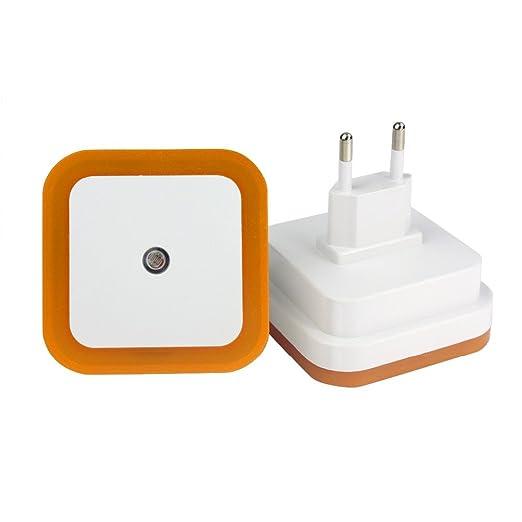 2 pcs Mini LED 0.5W Luz de Noche Sensor Movimiento,Hoyoo,Lampara del