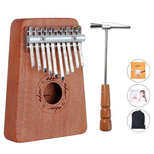 ADM Thumb Piano 10 keys Kalimba African Mahogany Finger
