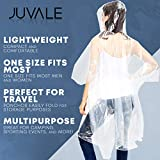 Juvale Emergency Raincoats with Hoods, Disposable