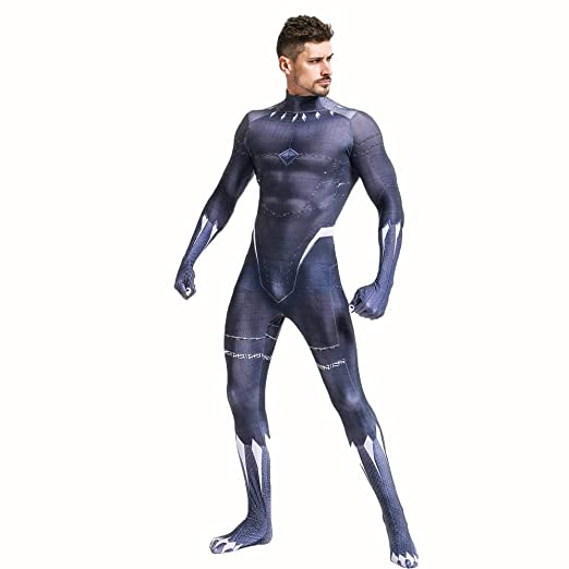 werty Marvel Black Panther Anime Costume The Avengers Fancy ...