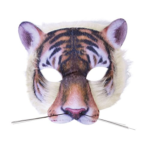 Forum Novelties 3D Print Costume Half Mask: (Tiger Costumes Adult)