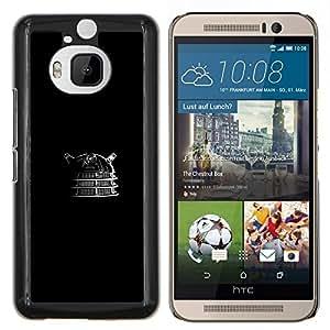 TECHCASE---Cubierta de la caja de protección para la piel dura ** HTC One M9+ M9 Plus ** --Robot Evil