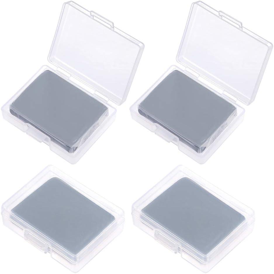 Sntieecr - Gomas de borrar (4 unidades, tamaño grande), color gris
