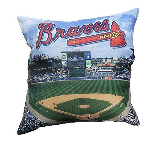 Atlanta Braves Pillow - Northwest Atlanta Braves Photo Pillow 18 x 18
