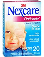Nexcare Opticlude Orthoptic Eye Patches Junior 20 Each