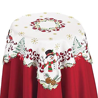 Christmas Snowman Cardinal Table Linens