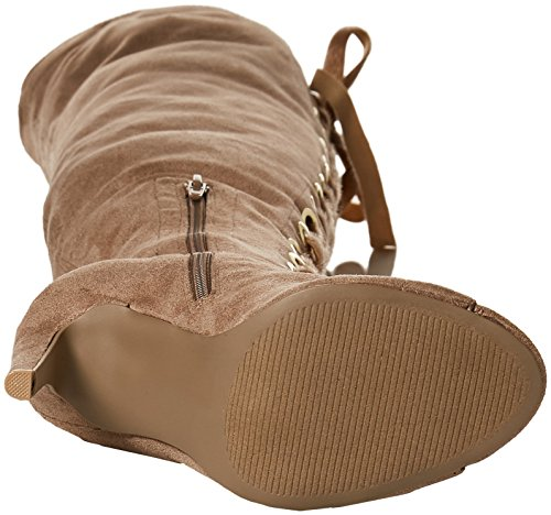Qupid Women's Interest-167xx Heeled Sandal Taupe SNLUi