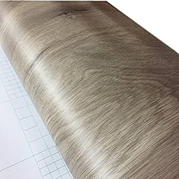sticky paper for furniture. BESTERY Self-adhesive Gray Wood Grain Furniture Stickers PVC Wallpaper Cabinets Wardrobe Contact Paper, Sticky Paper For I