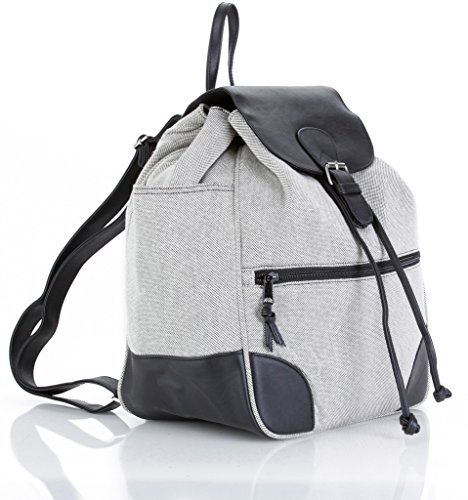 Classic Fashion Diaper Bag: KD by Kalencom Diaper Backpack with Padded Changing Pad and Matching Accessories Case (Heather Gray)
