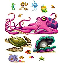All New UNDER THE SEA Ocean Tropical Luau Party Decoration SEA CREATURE Wall PROPS
