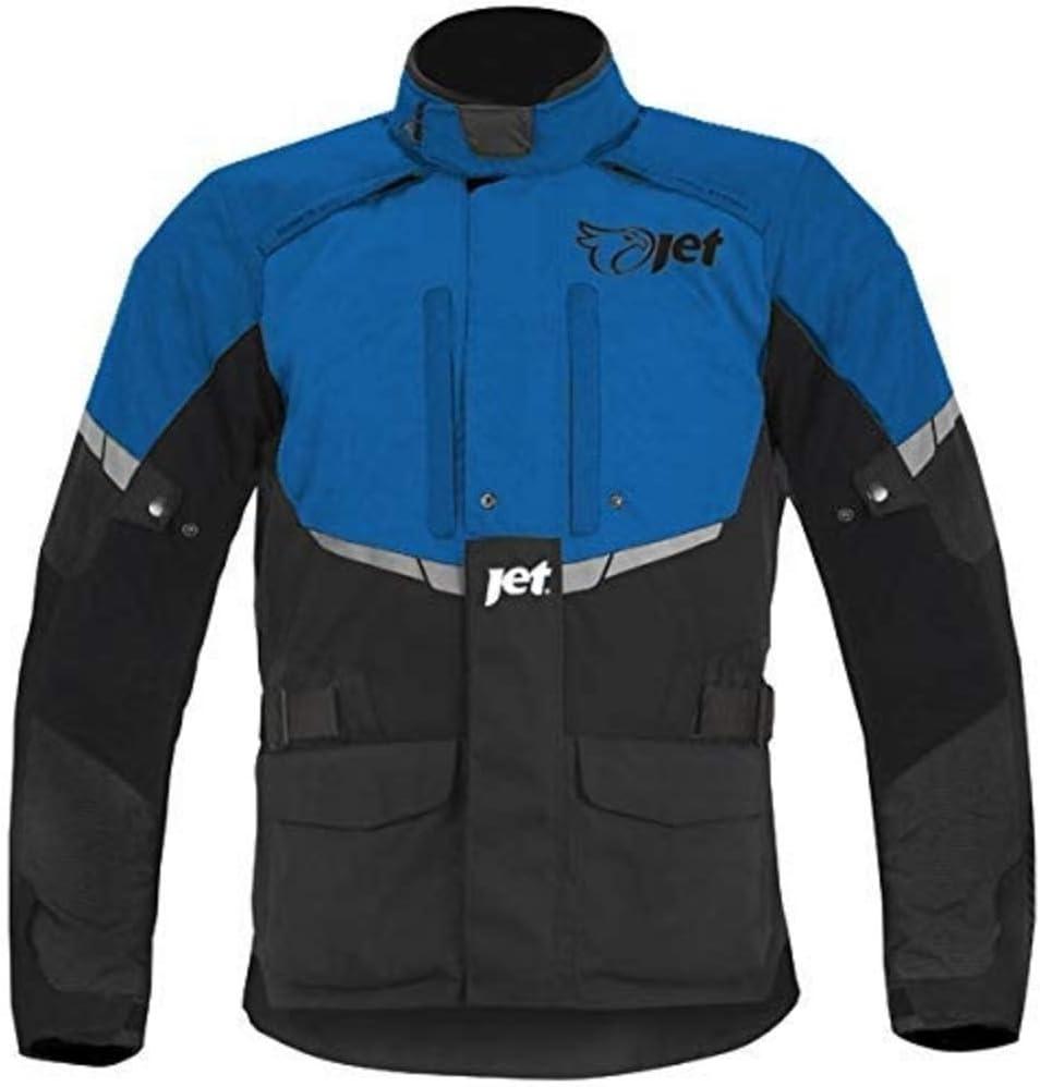 JET Motorcycle Motorbike Jacket Mens Textile Waterproof CE Armoured Tourer/ 48-50 Orange, 4XL
