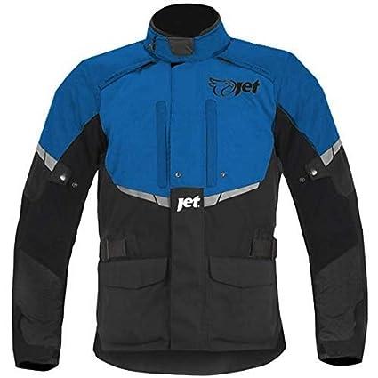 JET Chaqueta Moto Hombre Textil Impermeable con Armadura Tourer (L (EU 50-52), Azul)