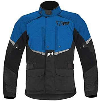 JET Chaqueta Moto Hombre Textil Impermeable con Armadura Tourer (M (EU 48-50), Azul): Amazon.es: Coche y moto