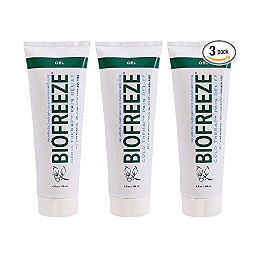 Biofreeze Cold Therapy Pain Relief Gel Tube 4 Ounce - Pack of 3 (Biofreeze Tube)