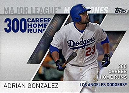 13034c3aa 2017 Topps Major League Milestones  MLM-4 Adrian Gonzalez Los Angeles  Dodgers Baseball Card