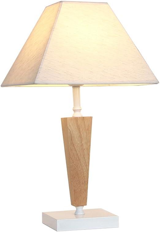 &Luz para Leer Lámpara de Mesa de Madera, lámpara de Mesa Trapezoidal del Dormitorio, lámpara de Escritorio Moderna, lámpara de Tabla Decorativa Simple: Amazon.es: Hogar