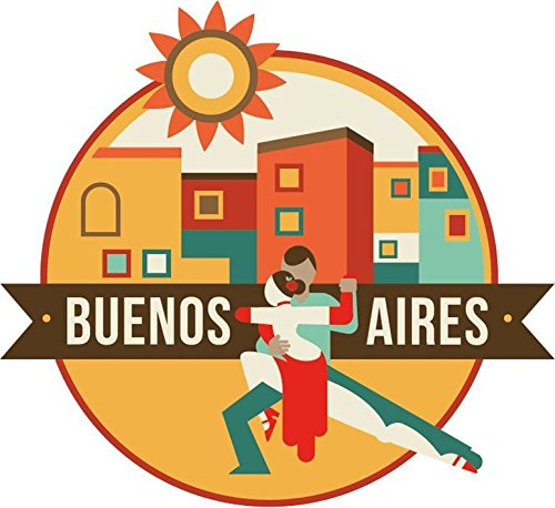 Buenos Aires Buenos Aires World City Travel Label Badge, used for sale  Delivered anywhere in USA